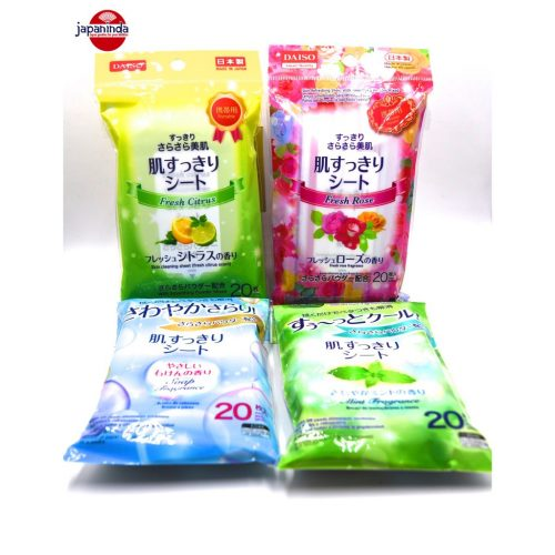 Daiso Skin Cleaning Refreshing Sheet (4 scents) 20 sheets
